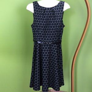Elle polka dot fit and flare dress